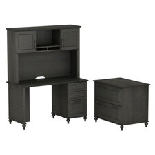 Volcano Dusk Small 2-Drawer Standard Desk Office Suite