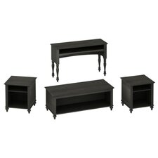 <strong>kathy ireland Office by Bush</strong> Volcano Dusk 4 Piece Coffee Table Set