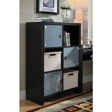 NEW YORK SKYLINE 6-Cube Bookcase in Mocha Finish
