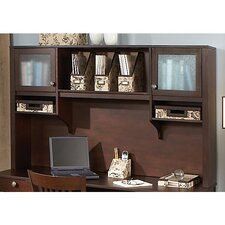 "Grand Expressions 66"" Hutch with Overhead Storage in Warm Molasses Finish"