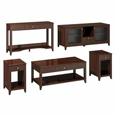 <strong>kathy ireland Office by Bush</strong> Americana Family Work-N-Play 5 Piece Coffee Table Set