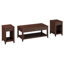 <strong>kathy ireland Office by Bush</strong> Americana 3 Piece Coffee Table Set