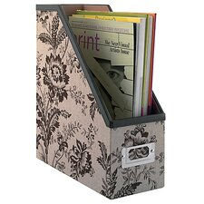 Grand Expressions Magazine File by in Neutral & Chocolate Floral Print