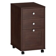 <strong>kathy ireland Office by Bush</strong> Grand Expressions Three-Drawer Mobile File with Locking Drawers in Warm Molasses Finish