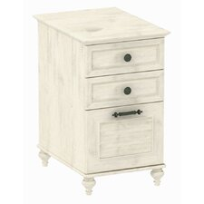 <strong>kathy ireland Office by Bush</strong> Volcano Dusk 3-Drawer File Cabinet in Driftwood Dreams Antique White Finish