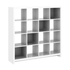 New York Skyline 16-Cube Room Divider in Plumeria White