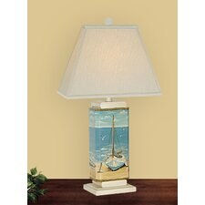 "Sail Boat 29"" H Table Lamp with Rectangle Shade"