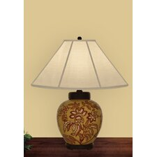 <strong>JB Hirsch Home Decor</strong> Poinsettia Table Lamp