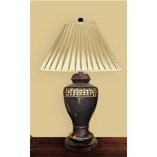"Egg Shell Trim on Onyx 30"" H Table Lamp with Empire Shade"