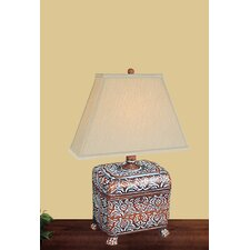 <strong>JB Hirsch Home Decor</strong> Carved Box Table Lamp