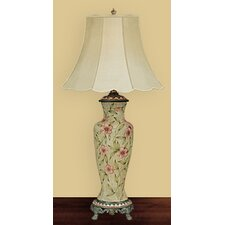 """Clematis Vase 35"""" H Table Lamp with Bell Shade"""