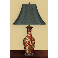 <strong>JB Hirsch Home Decor</strong> Leaves Vase Table Lamp