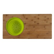 <strong>Core Bamboo</strong> Over The Sink 2-in-1 Cutting Board in One Tone