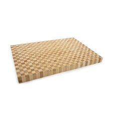 <strong>Core Bamboo</strong> Pro Chef Rectangle Checker Large Chop Block in Natural