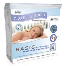 <strong>Protect-A-Bed</strong> Basic Waterproof Polyester Fitted Sheet Style Mattress Protector