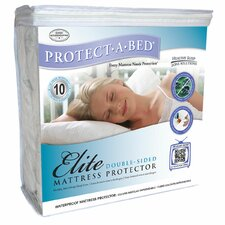 <strong>Protect-A-Bed</strong> Elite Cotton Double-Sided Waterproof Fitted Sheet Style Mattress Protector