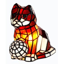 Tiffany 1 Light Cat with Ball Table Lamp
