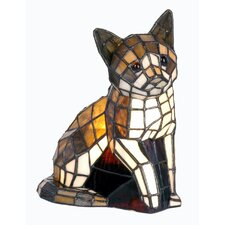 Tiffany 1 Light Cat Table Lamp