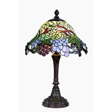 Tiffany 1 Light Grape Zinc Table Lamp