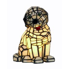 Tiffany 1 Light Dog Table Lamp