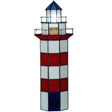 Tiffany 1 Light Lighthouse Large Table Lamp
