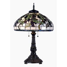 Tiffany 1 Light Grapes Table Lamp