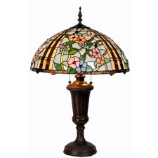 Tiffany 2 Light Zinc Table Lamp