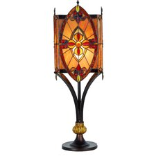 Tiffany 1 Light Square Table Lamp