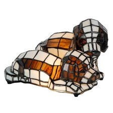 Tiffany 2 Light Dogs Table Lamp