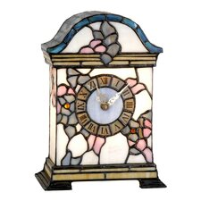 Tiffany 1 Light Clock Table Lamp