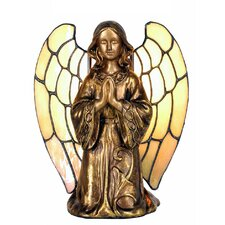 1 Light Angel with Tiffany Wings Table Lamp