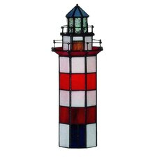 Tiffany 1 Light Lighthouse Small Table Lamp