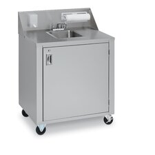 "Portable Single Basin 34"" x 25"" Hand Sink"