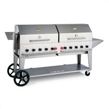 "<strong>Crown Verity</strong> 72"" Natural Gas Grill On Cart"