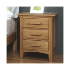 Caitlin 3 Drawer Bedside Table