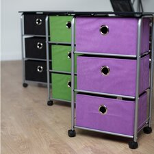 Bury 3 Drawer Shelving Unit