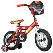 "Disney Cars Boy's 12"" Balance Bike with Car Case"