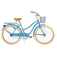 Deluxe Women's Cruiser Bike with Basket & Beverage Holder
