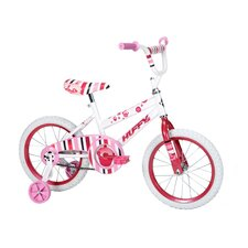 "<strong>Huffy</strong> Girl's 16"" So Sweet Cruiser Bike with Training Wheels"