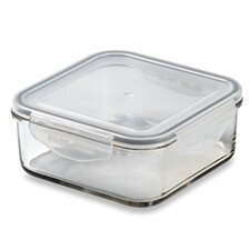 Glasslock 11-Cup Square Tempered Glass Container with Sealed Lid