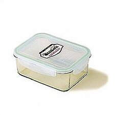 Go Green 37-oz.. Rectangular Glass Food Storage Container