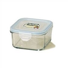 Go Green 17-oz.. Square Glass Food Storage Container