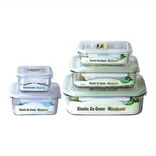 Go Green Glasslock Assorted 5-Piece Food Storage Container Set