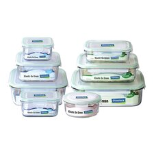 Go Green Glasslock Assorted 8-Piece Food Storage Container Set