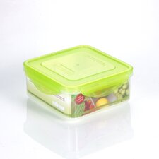 Premium 43-oz. Square Sandwich Food Storage Container with 4 Removable Divider
