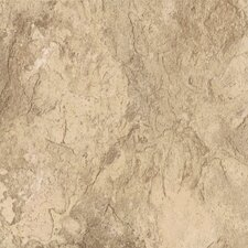 "DuraCeramic Sierra Slate 15.63"" x 15.63"" Vinyl Tile in Golden Greige"