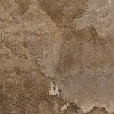"DuraCeramic  Rustic Stone 15"" x 15"" Vinyl Tile in Tobacco Clay"