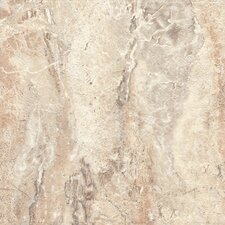 "DuraCeramic Roman Elegance 15"" x 15"" Vinyl Tile in Warm Clay"