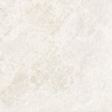 "<strong>Congoleum</strong> DuraCeramic Pacific Marble 15"" x 15"" Vinyl Tile in Pure White"