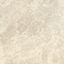 "DuraCeramic Pacific Marble 15.63"" x 15.63"" Vinyl Tile in Classic Bisque"